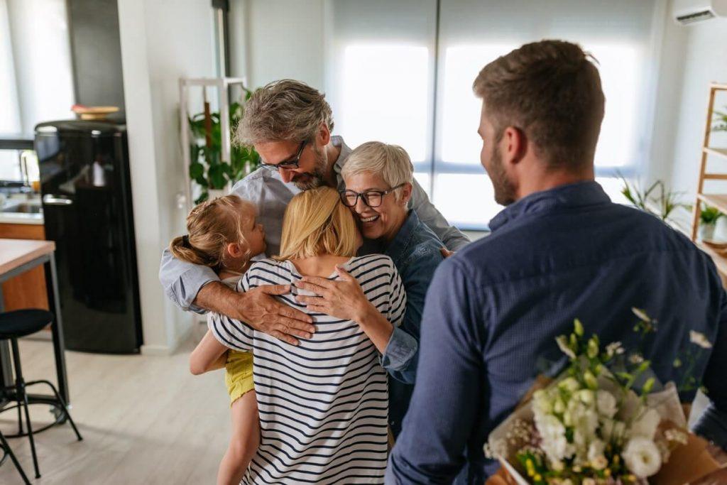 amigos e familiares durante um tratamento do usuário de crack